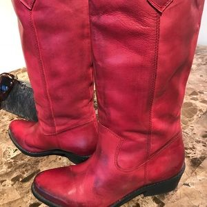Shoes - Leather cowgirl boots